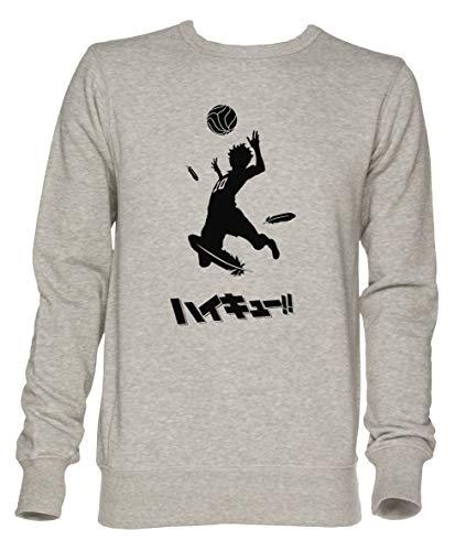 Jergley Haikyuu !! Hinata Spitze Unisex Grau Jumper Sweatshirt Herren Damen Größe XL   Unisex Jumper Sweatshirt for Men and Women Size XL