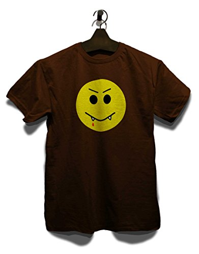 Vampir Smiley T-Shirt Braun