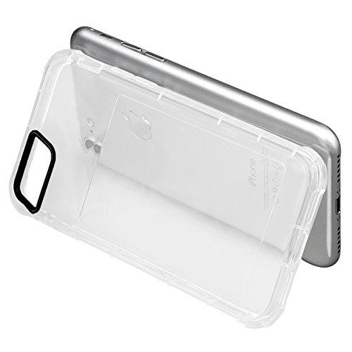 xhorizon [Ultra Hybrid] [Coussin d'air] Pare-chocs d'absorption des chocs et anti-rayures Clear Back ultra mince couverture protectrice transparente avec Slot de carte cachée pour iPhone 6 Plus/6S Plu #1