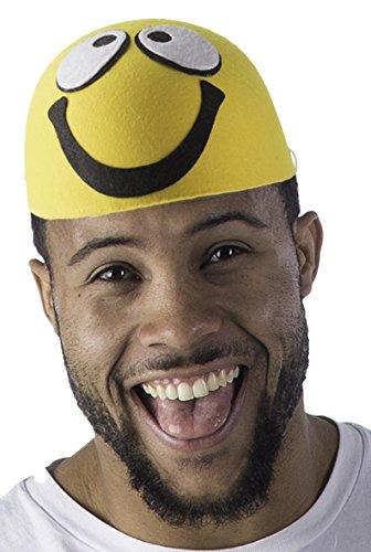 Dress Up America 918 - Smiley-Hut, (Gelb Fedora Erwachsenen Hut)