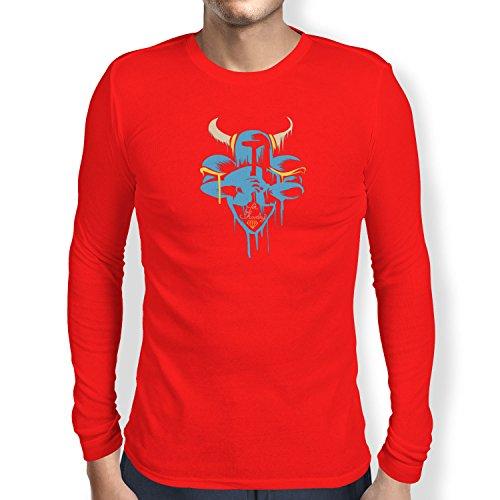 (TEXLAB - For Shovelry - Herren Langarm T-Shirt, Größe S, rot)