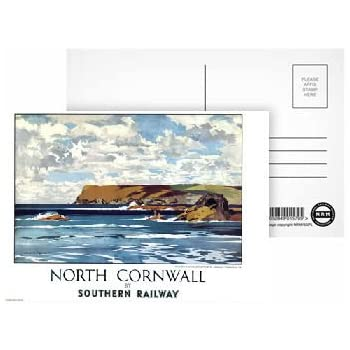 Pack of 8 North Wales Map - Highest Quality Postcard