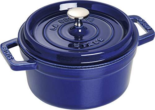 Staub 1102091 Cocotte Rostiera in ghisa, rotonda, 20 cm, blu scuro