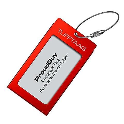 Kofferanhänger Gepäckanhänger TUFFTAAG Metall Visitenkartenhalter mit Adressschildchen - Erhältlich in 10 Farben