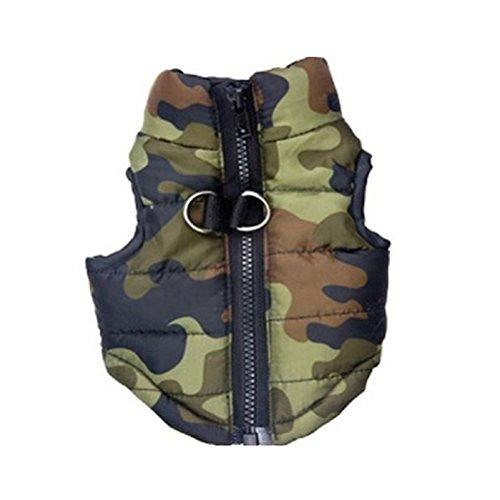 Ueetek inverno vestiti gilet giacca calda senza manica impermeabile per cani piccoli medi grande taglia l
