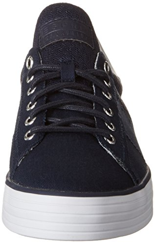 Esprit Sita Lace Up, Sneakers Basses Femme Bleu (400 Navy)