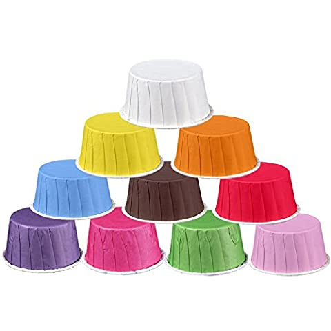 Yaxitu 10 Couleurs Paper Cake Cup Cupcake Cases Liners Muffin Cuisine Baking Wedding Party Cake Baking Cup 50Pcs