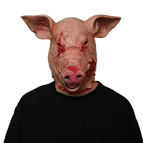 C Five Halloween Maske Horror Maske Maskerade Schwein Kopf Maske Tier Cosplay Kostüm Die Latex - Schwein Kopf Kostüm Maske