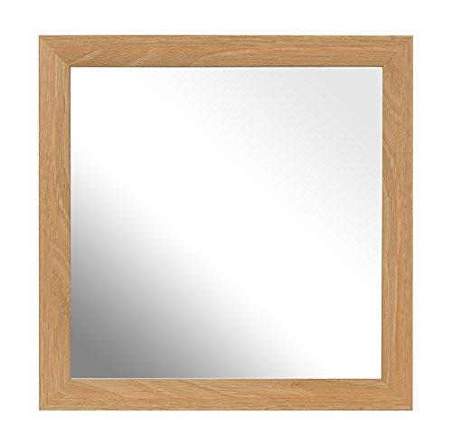Inov8Traditioneller Spiegel, Box Rahmen Lime Eiche, braun, Plastik, braun, 12 x 12-Inch - Standard-holz-spiegel