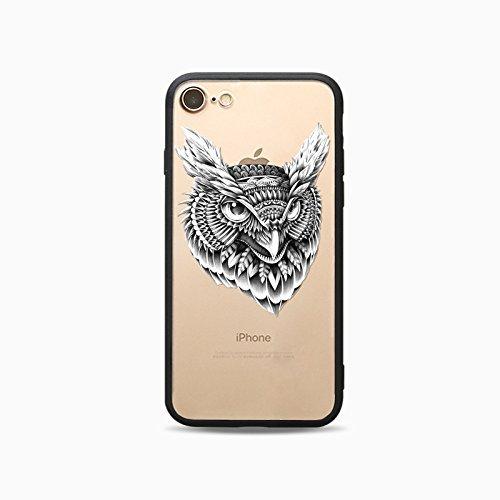 Coque iPhone 7 Housse étui-Case Transparent Liquid Crystal Les animaux en TPU Silicone Clair,Protection Ultra Mince Premium,Coque Prime pour iPhone 7-Cheval-style 12 16