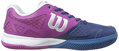 Wilson  RUSH PRO 2.0 Clay Court W NEON RED W/F 4, Chaussures de Tennis femme Multicolore - Mehrfarbig (DARK PEONY)