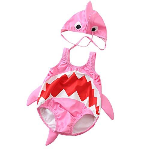 QinMMROPA bañador de con Forma de tiburón para niño bebé, Trajes de baño Gorra de baño bañador...