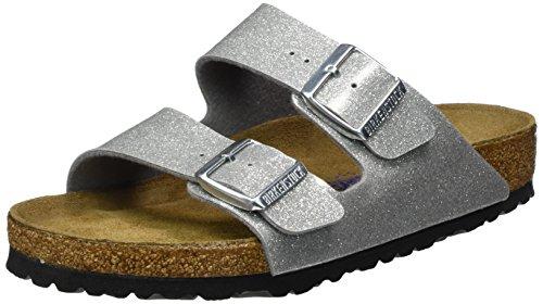Da donna Birkenstock Magic Galaxy cinturino doppio Glitter punta aperta sandali Galaxy Silver