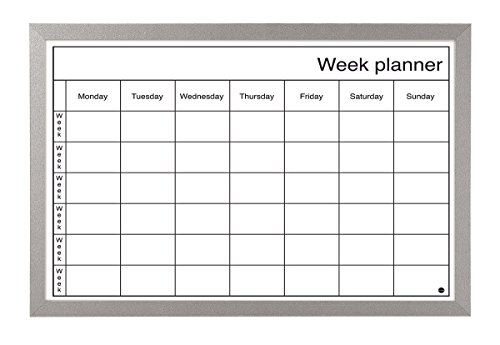Bi-Office Dry Wipe Weekly Planning Board with Pen