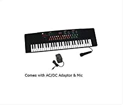 54 Keys Electronic & Musical Keyboard Piano Black