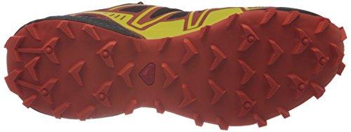 Salomon Speedcross 3 127609, Herren Sportschuhe - Running Black / George Orange-X / Mimosa Yellow