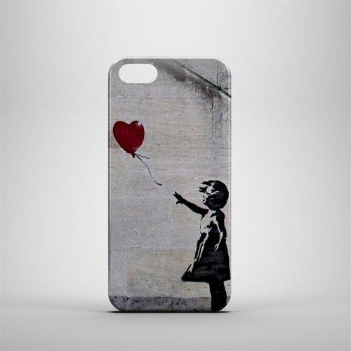 Banksy Fille au ballon forme coeur iPhone 5/5S
