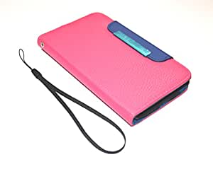 GB Samsung Galaxy Grand Quatro i8550 Leather Flip Case Cover Pouch Table Talk Wallet Pink