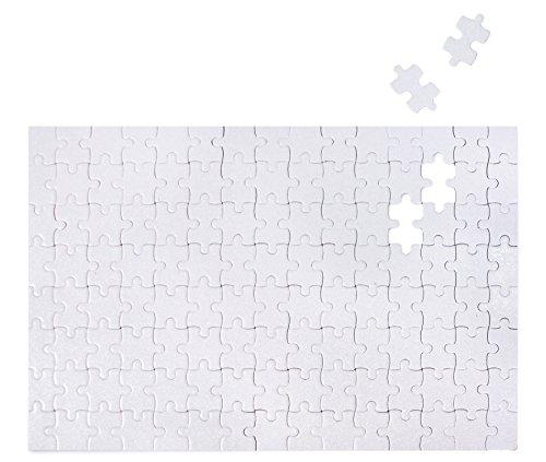 eiß zum selbst gestalten/selber bemalen, leeres Puzzle, 120 Teile, 285x200mm, blanko/leer ()