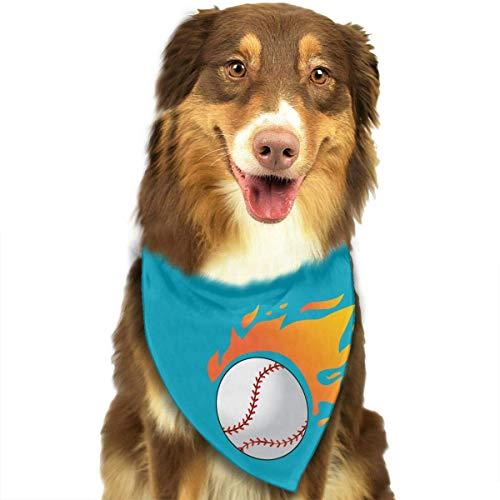 Wfispiy Hund Bandana Haustier Schal Baseball Classic Pet Bandana Haustier Halsbänder für Hund Katze eine Größe