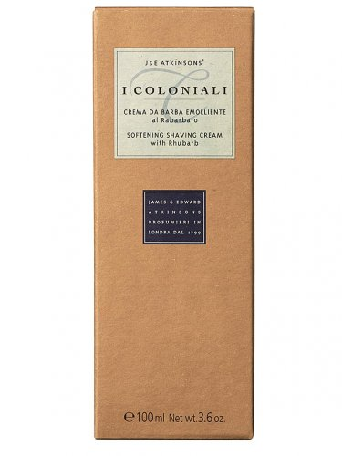 I coloniali crema barba emolliente rabarbaro di Atkinsons, Crema Viso Uomo - Tubetto 100 ml.