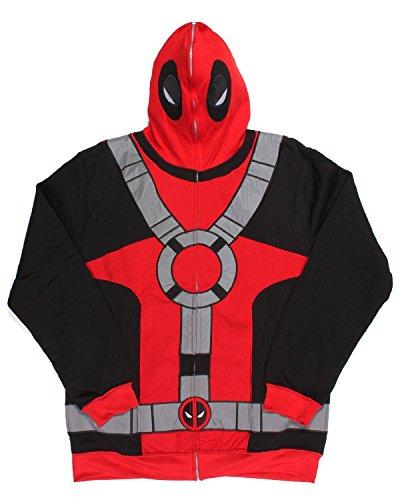 erse Kostüm Maske Men's Full Zip Hoodie ()