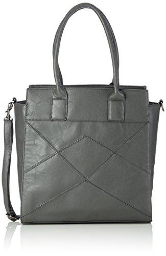 Friis & Company - Graphic Vila Everyday Bag, Borsa A Tracolla da donna, grigio (grey), 18x34x33 cm (B x H x T)
