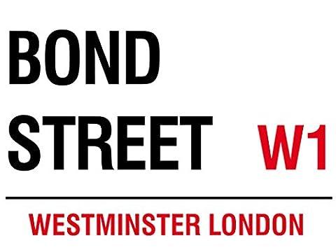BOND STREET London England Blechschild Stabil Flach Neu 30x40cm S2359