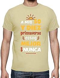 latostadora - Camiseta A Mis 50 y Diez 60 para Hombre