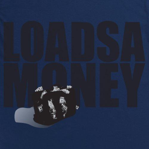 Square Mile Loadsamoney T-Shirt, Herren Dunkelblau