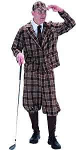 1930's Style Golfer Fancy Dress Costume