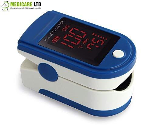 ADS Medicare finger Pulsossimetro con display a LED per casa e uso medico approvato