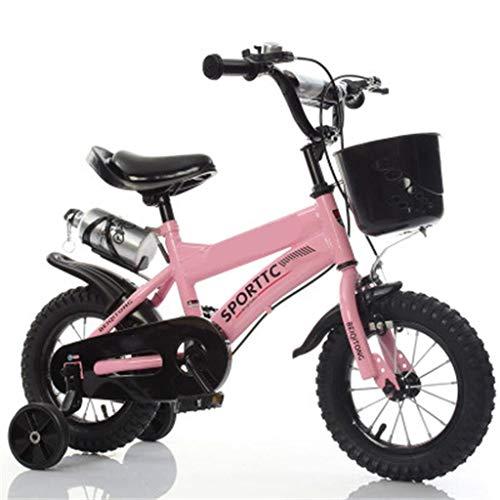 YEZXC Bébé Enfant bicyclettes Bicyclettes pour Enfants 12/14/16/18/20 Pouces Enfants Véhicules Véhicules Vélo De Montagne Cadeau Creative Mode Belle Garçon Fille Réglable Rose Rouge Enfants Cadeau