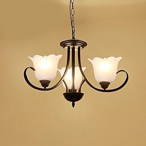LKMNJ Style européen Industrial Air Sépia le lustre Lustre Accueil Le Village d'Art de fer d'éclairage Lampe