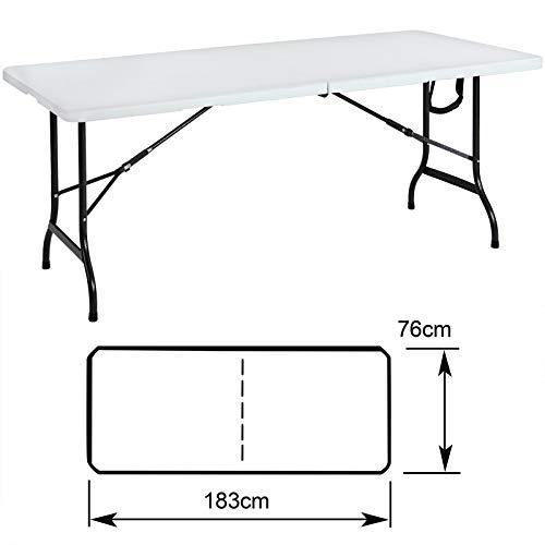 Tisch klappbar Kunststoff weiß - 5