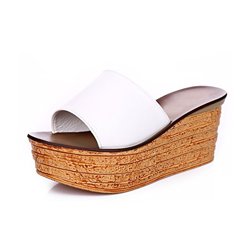 ZYUSHIZ Frau Hausschuhe Das erste Feld Hausschuhe Cool Hausschuhe die Philippinen mit Sandalen Dicke weitergeleitet Weiß