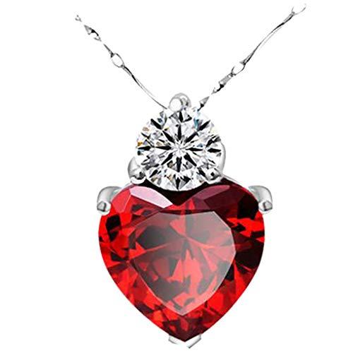 Dorical Damen 925 Sterling Silber 3A Zirkonia Halskette exquisite Geschenk/Frauen Halskette Beliebte Schmuck dchen Geschenk Promo (One size, Z-11)