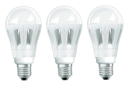 3er Pack LED Lampe Glühbirne Osram LED Superstar Classic A 12 W entspricht 50W E27 matt dimmber Normallampenform Lichtfarbe warmweiß 2700K Farbcode 827 650 lm 230V Ø 62 mm 4008321645944 [Energieklasse A]