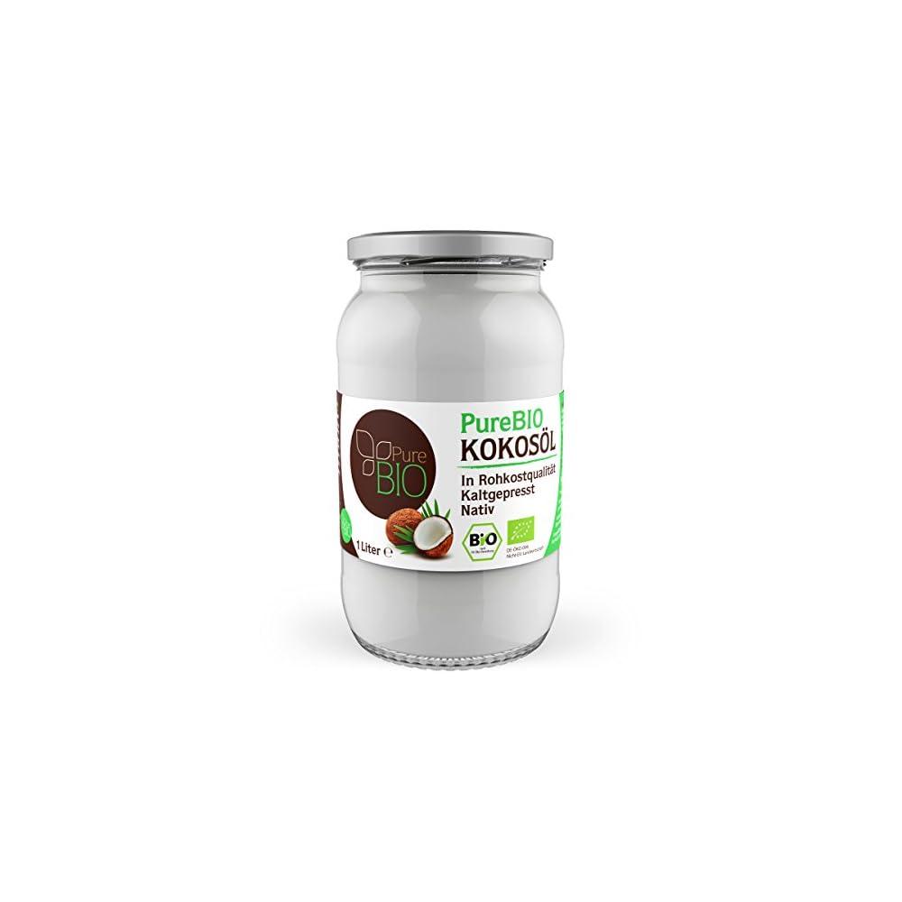 Purebio Kokosl Fr Haare Haut Und Zum Kochen Kokosl Bio Nativ Und Kaltgepresst
