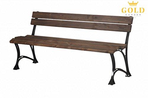 GOLD GARDEN G02013 Gartenbank Toskana aus palisanderfarbenem Fichtenholz 180 cm für 4 Personen