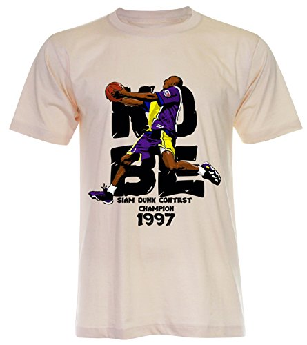 PALLAS Unisex's Kobe Basketball Sport T-Shirt Light Beige