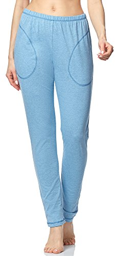 85480113a Merry Style Pantalones Largos de Pijamas 100% Algodón Mujer MPP-002 (Azul  Melange-2, L)