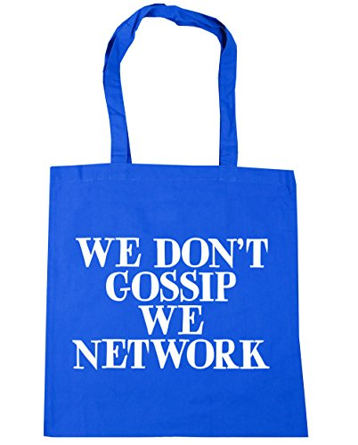 hippowarehouse-we-dont-gossip-we-network-tote-shopping-gym-beach-bag-42cm-x38cm-10-litres