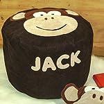 Kiddiewinkle Gifts Handmade Personalised Bean Bag Chair, Melvin the Monkey Suede Bean Bag, Gift Ideas Boys, Bean Bag Chairs, Kids Bean Bags, Handmade Beanbag Kids Bedroom