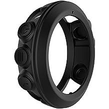 Prom-near Funda para Garmin Fenix 3, Fenix 3 Carcasa Protectora de Cuerpo Completo de Silicona Suave a Prueba de Golpes, Funda Protectora para Garmin Fenix 3/Fenix 3 HR/Quatix 3 Smart Watch (Negro)
