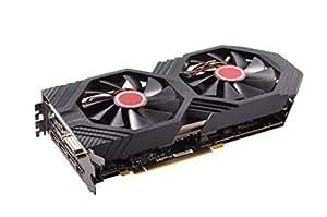 XFX AMD Radeon RX580 GTS XXX Edition Grafikkarte 8GB Speicher Mining, Schwarz