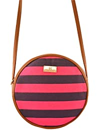 Women's Sling Bag (Pink And Tan)