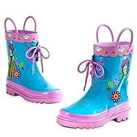 Disney Store Deluxe Frozen Anna Elsa Rain Boots Shoes (13 M US Little Kid)