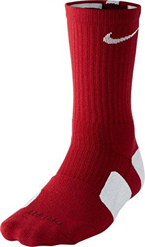 Nike ELITE Basketball CRW SMLX VARSITY RED/WHITE/(WHITE), Größe Nike:L (Nike Elite Kinder-basketball-socken)