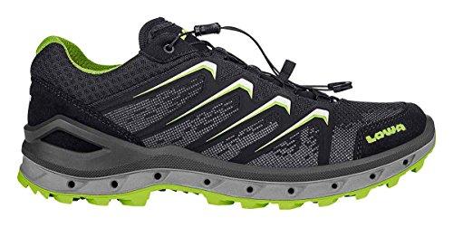 Lowa Aerox GTX Lo, Chaussures de Randonnée Hautes Homme Noir (Schwarz/limone 9903)